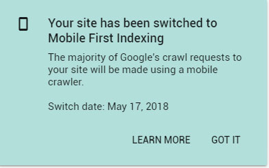 Example of how Mobile First Indexing works