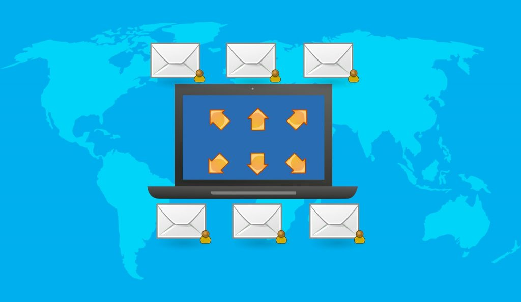 Illustration of how email marketing works