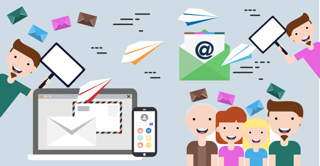 Illustration of how email marketing reaches its target audience