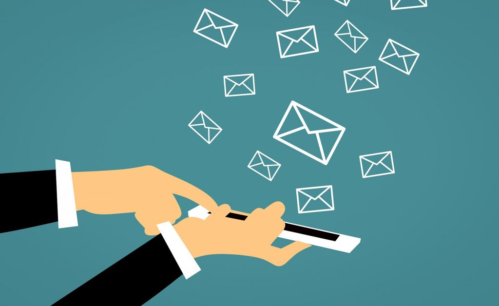 Illustration of how mobile works with email marketing