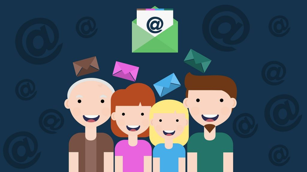 Illustration of how email is sent to people